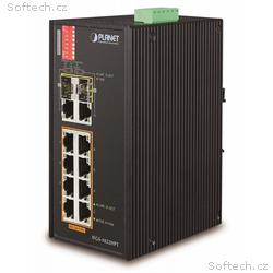 Planet IFGS-1022HPT, PoE switch 8x 100Base-TX, 2x