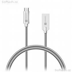 CONNECT IT Wirez Steel Knight Micro USB - USB, met