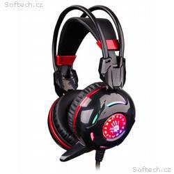 A4tech Bloody G300, herní sluchátka, černé, USB, 2