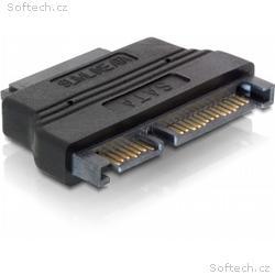 DeLock adaptér SATA 22pin samec -> Slim SATA 7+6pi
