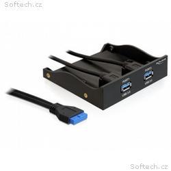 """Delock 3,5"""" panel 2x USB 3.0 černý (19-pin)"""