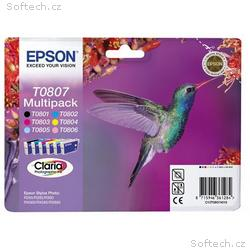 EPSON cartridge T0807 (6color) multipack (kolibřík