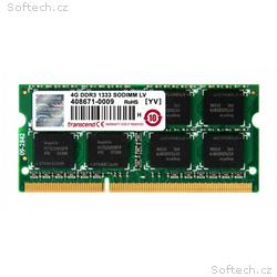 Transcend paměť 4GB DDR3 SO-DIMM 1333Mhz CL9 2Rx8