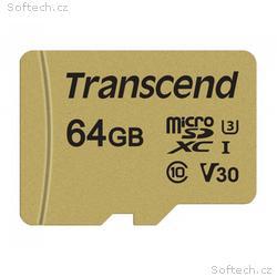 Transcend 64GB microSDXC 500S UHS-I U3 V30 (Class