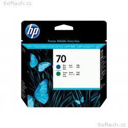 HP 70 - Modrá, zelená - tisková hlava - pro Design