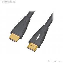 Kabel HDMI A - HDMI A M, M 3m, zlacené konektory,