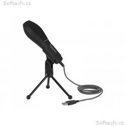 Delock - Mikrofon - USB - černá